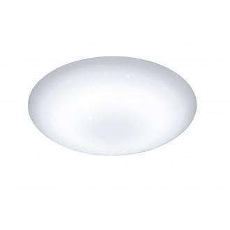 WOFI 955501066000 | Minor Wofi mennyezeti lámpa kerek távirányító szabályozható fényerő, állítható színhőmérséklet 1x LED 2500lm 2800 <-> 6000K fehér, kristály hatás