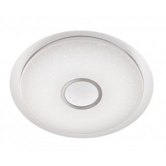 WOFI 955501066100 | Minor Wofi mennyezeti lámpa kerek távirányító szabályozható fényerő, állítható színhőmérséklet 1x LED 2300lm 2900 <-> 5800K fehér, ezüst, kristály hatás