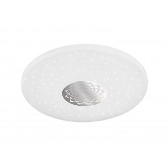 WOFI 993401066000 | Moris Wofi mennyezeti lámpa kerek távirányító szabályozható fényerő, állítható színhőmérséklet 1x LED 1400lm 3000 <-> 6400K fehér, ezüst, kristály hatás