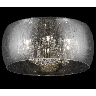 ZUMA LINE C0076-01D-F4K9 | RainZL Zuma Line mennyezeti lámpa kerek 1x G9 króm, füst, átlátszó
