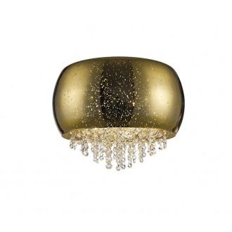 ZUMA LINE C0076-05K-F4GQ | Vista Zuma Line mennyezeti lámpa kerek 5x G9 arany, kristály, csillogó
