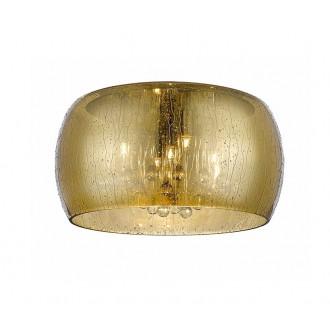 ZUMA LINE C0076-05L-F4L9 | RainZL Zuma Line mennyezeti lámpa kerek 5x G9 arany, áttetsző, átlátszó