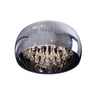 ZUMA LINE C0076-05L | CrystalZL Zuma Line mennyezeti lámpa kerek 5x G9 króm, füst, átlátszó