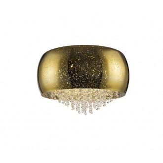 ZUMA LINE C0076-06K-F4GQ | Vista Zuma Line mennyezeti lámpa kerek 6x G9 arany, kristály, csillogó
