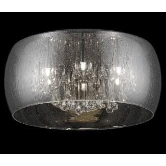 ZUMA LINE C0076-06X-F4K9 | RainZL Zuma Line mennyezeti lámpa kerek 6x G9 füst, átlátszó