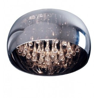 ZUMA LINE C0076-06X | CrystalZL Zuma Line mennyezeti lámpa kerek 6x G9 króm, füst, átlátszó