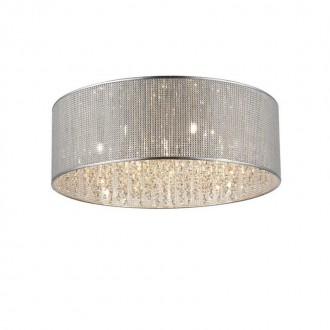 ZUMA LINE C0173-07W | Blink Zuma Line mennyezeti lámpa kerek 7x G9 króm, ezüst, kristály