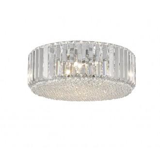 ZUMA LINE C0360-05B-F4AC | Prince Zuma Line mennyezeti lámpa kerek 5x G9 króm, átlátszó, kristály