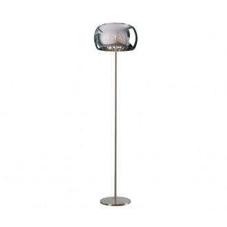 ZUMA LINE F0076-04A | CrystalZL Zuma Line álló lámpa 158cm taposókapcsoló 4x G9 króm, galvanizált fémfelület, átlátszó