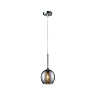 ZUMA LINE MD1629-1CH | Monic Zuma Line függeszték lámpa 1x E14 króm, füst, átlátszó