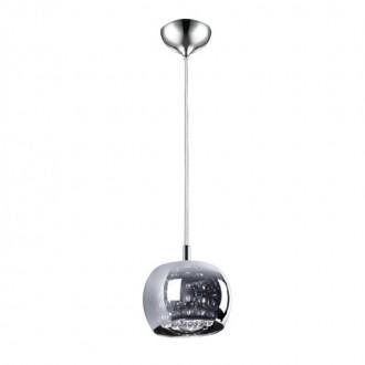 ZUMA LINE P0076-01A | CrystalZL Zuma Line függeszték lámpa kerek 1x G9 króm, füst, átlátszó