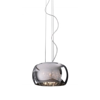 ZUMA LINE P0076-03E | CrystalZL Zuma Line függeszték lámpa kerek rövidíthető vezeték 3x G9 króm, füst, átlátszó