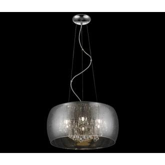 ZUMA LINE P0076-05L-F4K9 | RainZL Zuma Line függeszték lámpa kerek rövidíthető vezeték 5x G9 ezüst, füst, átlátszó