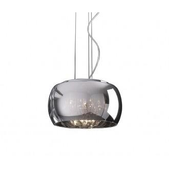 ZUMA LINE P0076-05L | CrystalZL Zuma Line függeszték lámpa kerek rövidíthető vezeték 5x G9 króm, füst, átlátszó