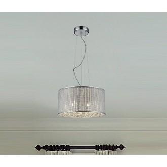 ZUMA LINE P0173-05W | Blink Zuma Line függeszték lámpa kerek rövidíthető vezeték 5x G9 króm, ezüst, kristály