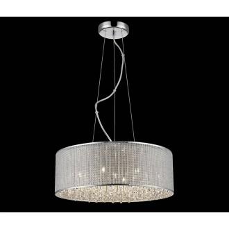 ZUMA LINE P0173-07W | Blink Zuma Line függeszték lámpa kerek rövidíthető vezeték 7x G9 króm, ezüst, kristály