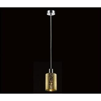 ZUMA LINE P0369-01AGO | Pioli Zuma Line függeszték lámpa henger rövidíthető vezeték 1x E27 króm, arany, csillogó