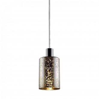 ZUMA LINE P0369-01ASL | Pioli Zuma Line függeszték lámpa henger rövidíthető vezeték 1x E27 króm, ezüst, csillogó