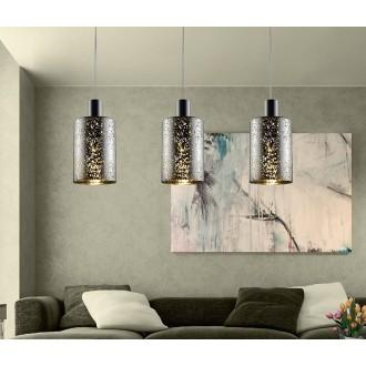 ZUMA LINE P0369-03ASL | Pioli Zuma Line függeszték lámpa henger 3x E27 króm, ezüst, csillogó