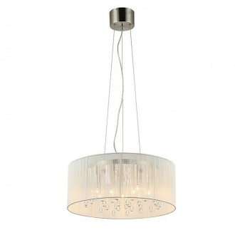 ZUMA LINE RLD92193-6 | Artemida Zuma Line függeszték lámpa kerek rövidíthető vezeték 6x G9 ezüst, fehér, átlátszó