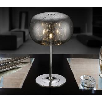 ZUMA LINE T0076-03D-F4K9 | RainZL Zuma Line asztali lámpa kerek 36cm vezeték kapcsoló 3x G9 króm, füst, átlátszó