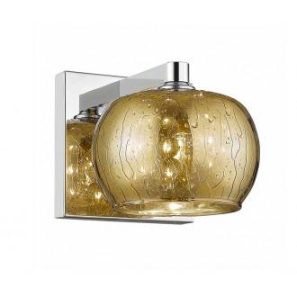 ZUMA LINE W0076-01A-B5L9 | RainZL Zuma Line falikar lámpa kerek 1x G9 arany, áttetsző, króm