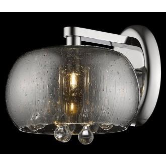 ZUMA LINE W0076-01D-F4K9 | RainZL Zuma Line falikar lámpa kerek 1x G9 króm, füst, átlátszó