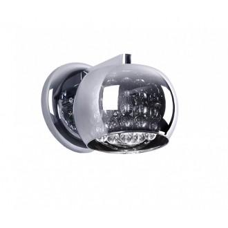 ZUMA LINE W0076-01D | CrystalZL Zuma Line falikar lámpa kerek 1x G9 króm, füst, átlátszó