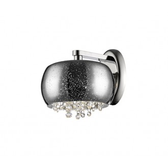 ZUMA LINE W0076-01E-F4GR | Vista Zuma Line falikar lámpa kerek 1x G9 króm, ezüst, kristály