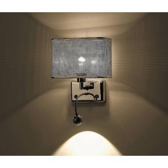 ZUMA LINE W0173-02A | Blink Zuma Line falikar lámpa kerek flexibilis 1x E27 + 1x LED 250lm króm, ezüst, kristály