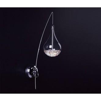 ZUMA LINE W0226-01A | Perle Zuma Line falikar lámpa csepp 1x G4 króm, átlátszó, kristály