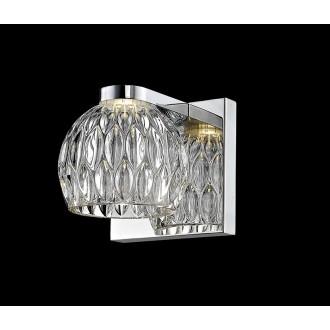 ZUMA LINE W0404-01A | AureliaZL Zuma Line falikar lámpa kerek 1x LED 470lm 3000K króm, átlátszó