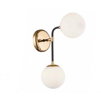 ZUMA LINE W0454-02A | Riano Zuma Line falikar lámpa 2x G9 arany, fekete, átlátszó