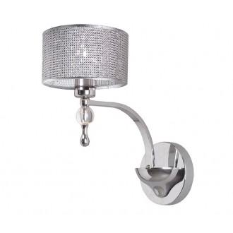 ZUMA LINE W1550-01A | Jewellery Zuma Line falikar lámpa kerek 1x E27 króm, csillogó, átlátszó